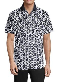 Karl Lagerfeld Logo-Print Short-Sleeve Shirt