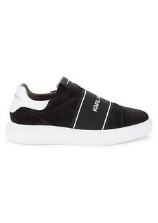 Karl Lagerfeld Logo Slip-On Sneakers