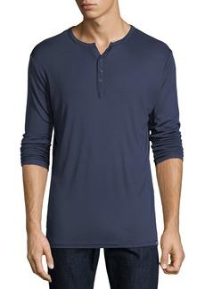Karl Lagerfeld Long-Sleeve Split Henley T-Shirt