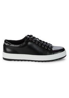 Karl Lagerfeld Low-Cut Leather-Look Sneakers