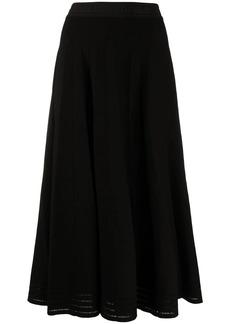 Karl Lagerfeld lurex pleated skirt
