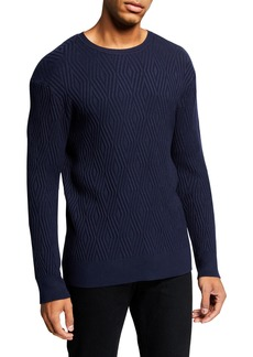 Karl Lagerfeld Men's 3-D Diamond Sweater