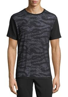 Karl Lagerfeld Men's Camo & Mesh T-Shirt