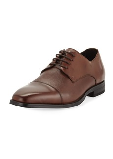 Karl Lagerfeld Men's Cap-Toe Leather Oxfords