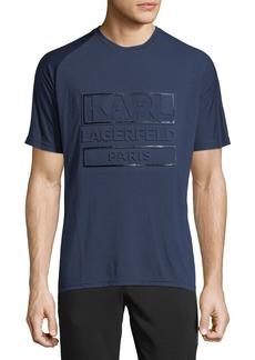 Karl Lagerfeld Men's Crewneck Debossed Logo T-Shirt