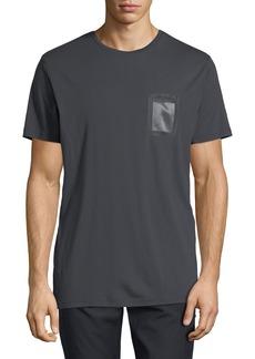 Karl Lagerfeld Men's Crewneck Mesh-Pocket T-Shirt