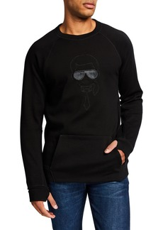 Karl Lagerfeld Men's Embroidered Head Pullover
