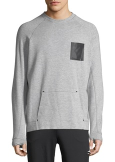 Karl Lagerfeld Men's Long-Sleeve Cotton-Blend Sweatshirt with Mesh Pocket
