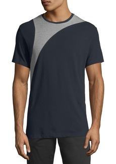 Karl Lagerfeld Men's Pique-Block Crewneck T-Shirt
