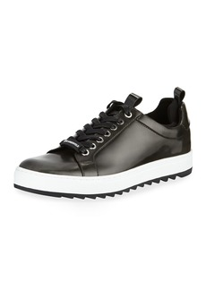 Karl Lagerfeld Men's Sawtooth Leather Sneakers