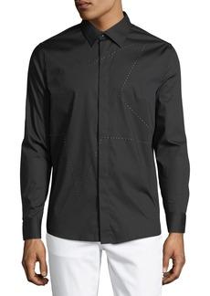 Karl Lagerfeld Men's Star-Studded Sport Shirt