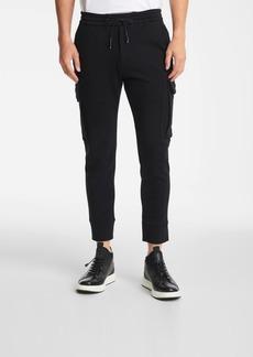 Karl Lagerfeld Men's Stretch Polyester Blend Cargo Jogger