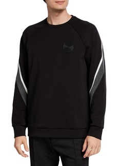 Karl Lagerfeld Men's Striped Logo Pullover