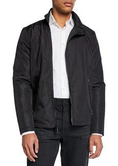 Karl Lagerfeld Men's Textured Asymmetrical Jacket