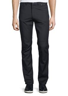 Karl Lagerfeld Men's Textured Zip-Pocket Moto-Style Pants