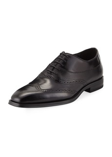 Karl Lagerfeld Men's Wing-Tip Lace-Up Dress Shoes