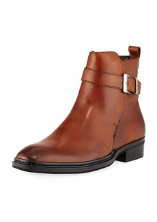 Karl Lagerfeld Men's Wrap-Strap Leather Boot