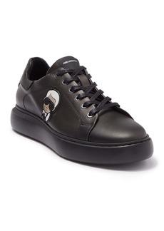 Karl Lagerfeld Metallic Leather Karl Head Lace-Up Sneaker