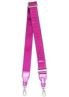 Karl Lagerfeld metallic-tone logo-print bag strap