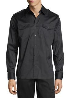 Karl Lagerfeld Military Studded Dress Shirt