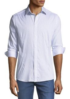 Karl Lagerfeld Mini-Basketweave Print Sport Shirt