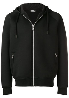 Karl Lagerfeld neoprene zip up hoodie