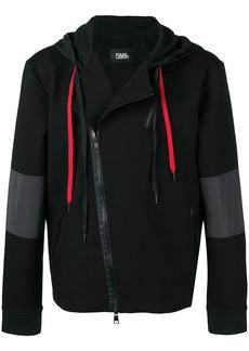 Karl Lagerfeld panelled zip hoodie