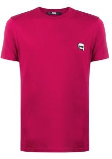 Karl Lagerfeld patch detail T-shirt