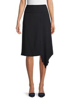 Karl Lagerfeld Pleated Asymmetrical Skirt