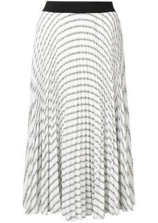 Karl Lagerfeld pleated logo skirt