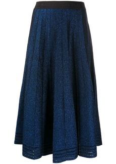 Karl Lagerfeld pleated lurex skirt