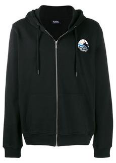 Karl Lagerfeld printed zipped hoodie