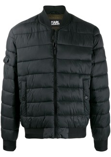 Karl Lagerfeld quilted bomber jacket