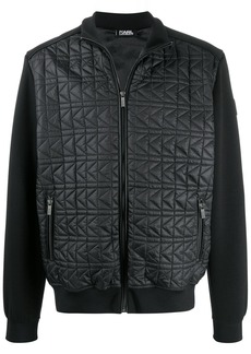 Karl Lagerfeld quilted panel bomber jacket