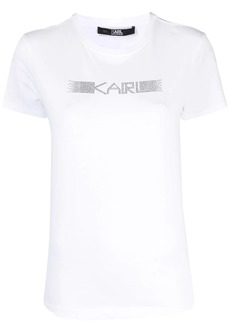 Karl Lagerfeld rhinestone logo T-shirt