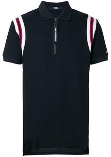 Karl Lagerfeld rib knit detail polo shirt