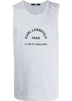 Karl Lagerfeld Rue St Guillaume logo print top