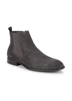 Karl Lagerfeld Side-Zip Suede Chelsea Boots