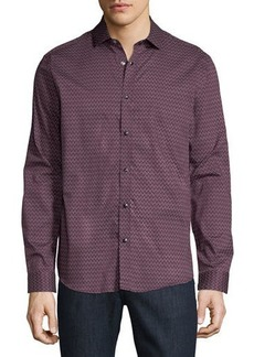 Karl Lagerfeld Snap-Front Printed Sport Shirt