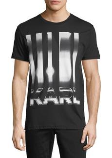 Karl Lagerfeld Steel Karl Logo Crewneck Tee
