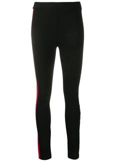 Karl Lagerfeld stripe detail logo leggings