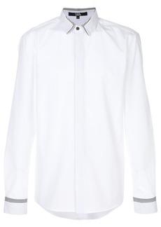 Karl Lagerfeld stripe detail poplin shirt