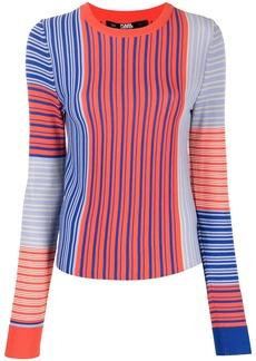 Karl Lagerfeld striped fine knit jumper