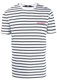 Karl Lagerfeld striped logo T-shirt