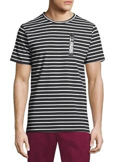 Karl Lagerfeld Striped Zip-Pocket Short Sleeve Tee