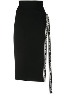 Karl Lagerfeld tape wrap knit skirt