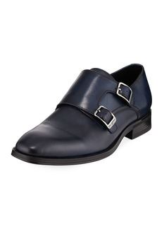 Karl Lagerfeld Textured Double-Monk Loafer