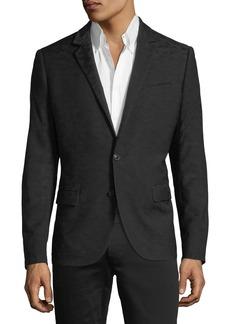 Karl Lagerfeld Tonal Camouflage Blazer Jacket