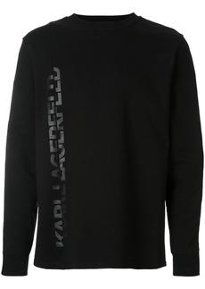 Karl Lagerfeld tonal logo print sweatshirt