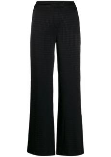 Karl Lagerfeld tonal pattern wide-leg trousers